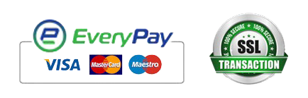 Everypay, Visa, MasterCard, Maestro, SSL encrypted transaction