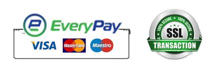 Everypay, Visa, MasterCard, Maestro, SSL encrypted transaction